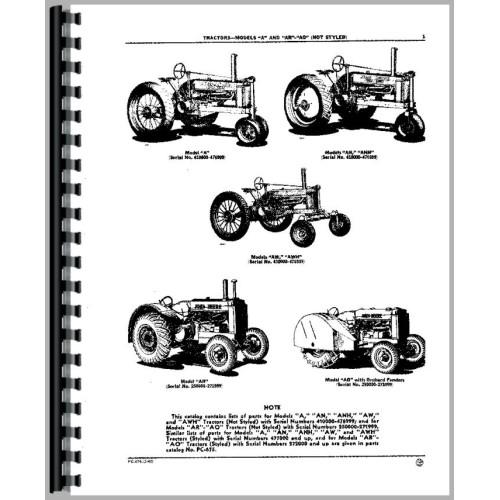 John Deere AR Tractor Parts Manual