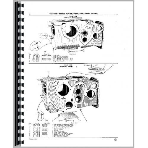 John Deere B Tractor Parts Manual (SN# 60000 and Up) (60000+)