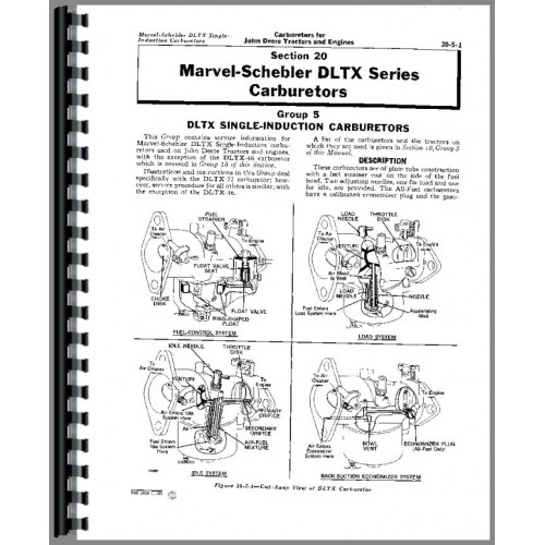 John Deere 2 Cylinder Carburetors Service Manual (All)