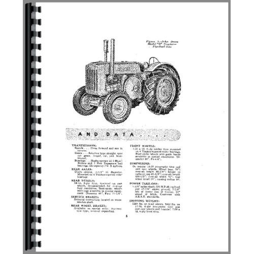 John Deere D Tractor Operators Manual (Styled)