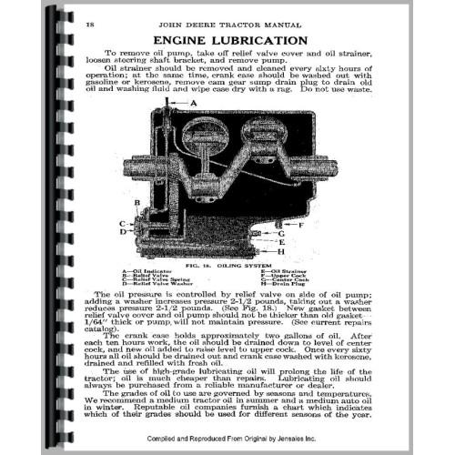 John Deere D Tractor Service Manual (1923-1953)