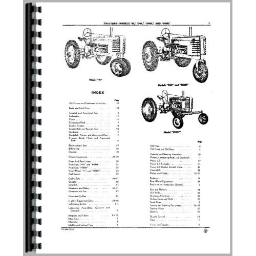 John Deere H Tractor Parts Manual