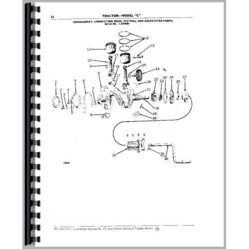 John Deere L Tractor Parts Manual