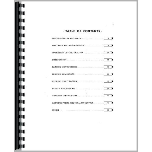 John Deere M Tractor Operators Manual