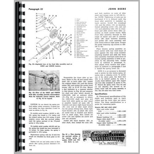 John Deere 440C Crawler Service Manual (1958-1960)