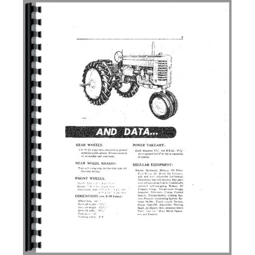 John Deere MT Tractor Operators Manual