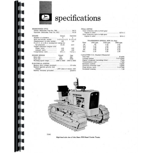 John Deere 1010 Crawler Operators Manual (Sn 21901 & Up