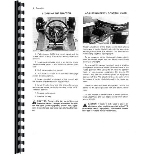 John Deere 110 Lawn & Garden Tractor Operators Manual (Sn