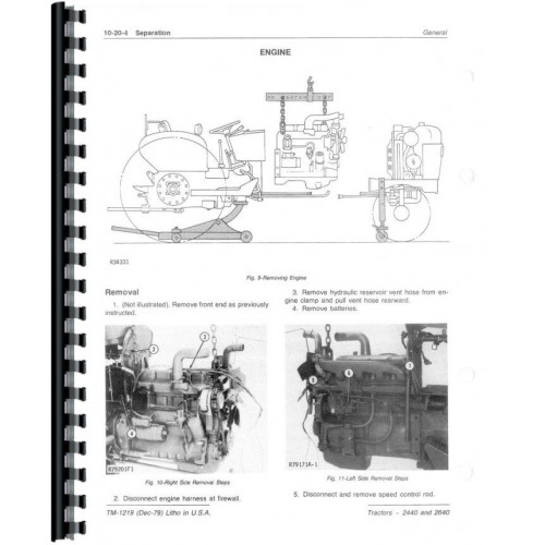 John Deere 2440 Tractor Service Manual (Sn 341,000 & Up
