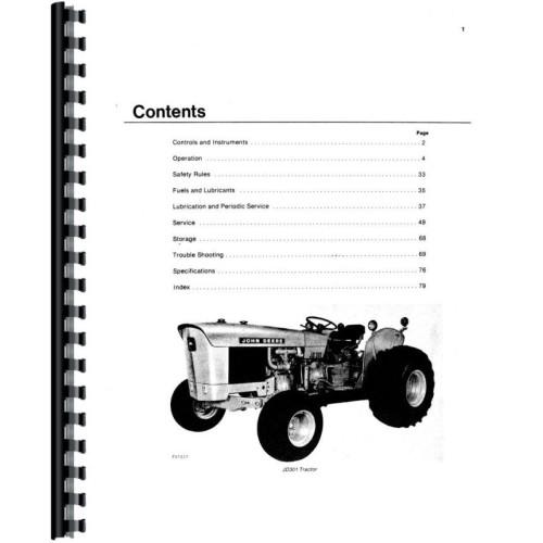 John Deere 301 Industrial Tractor Operators Manual (w/Loader)