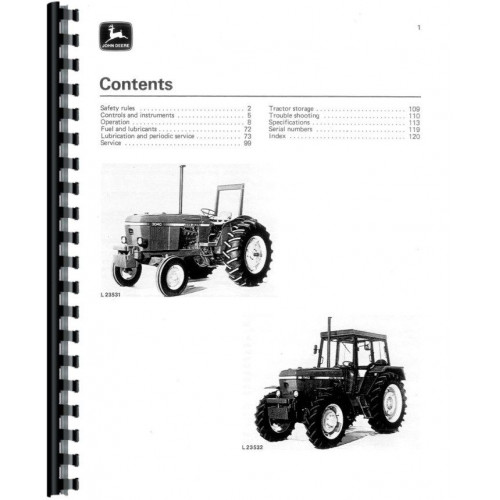 John Deere 3040 Tractor Operators Manual (Sn 0-429,999)