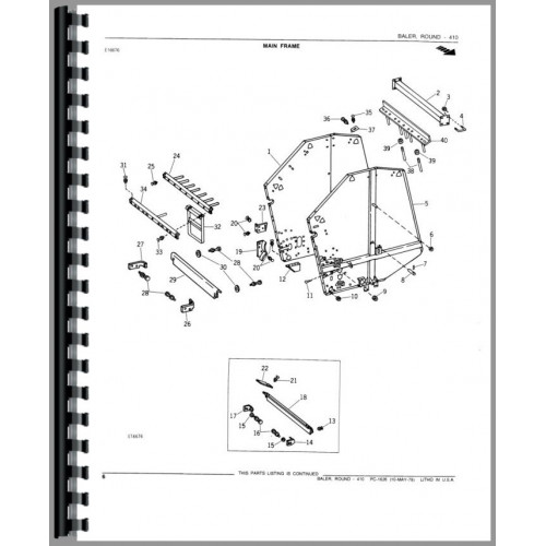 John Deere 410 Round Baler Parts Manual