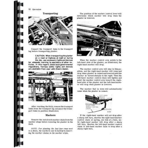 John Deere 494A Corn Planter Operators Manual
