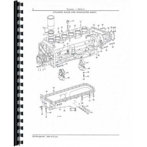 John Deere 5010 Industrial Tractor Parts Manual (Industrial)