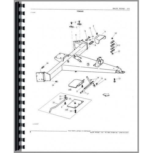 John Deere 510 Baler Parts Manual