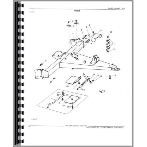 John Deere 510 Baler Parts Manual