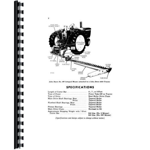 John Deere 9 Mower Operators Manual (Integral)