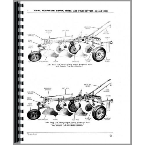 John Deere 555H Plow Parts Manual (Three and Four-Bottom