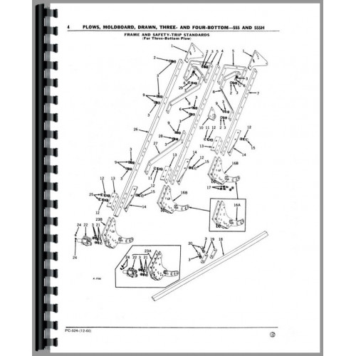 John Deere 555 Plow Parts Manual (Three and Four-Bottom