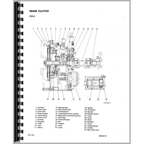 Komatsu D21P-6 Crawler Service Manual (SN# 60001 and Up