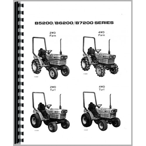 Kubota B7200D Tractor Operators Manual