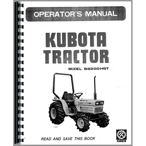 Kubota B8200HST-D Tractor Operators Manual