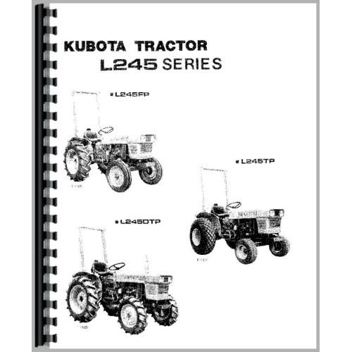 Kubota L245 Tractor Operators Manual