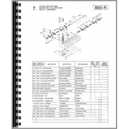 Kubota V1902-BBS-1 Engine Parts Manual