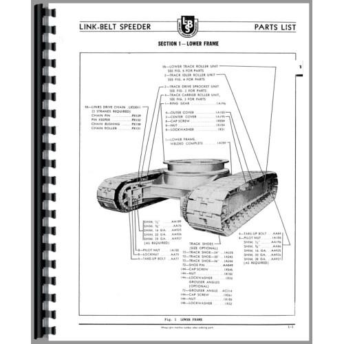 crane parts diagram ethanol phase link belt speeder ls 98 drag or manual