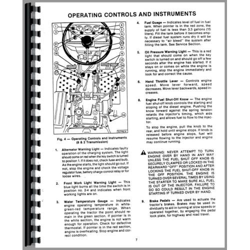 Long 360 Tractor Operators Manual