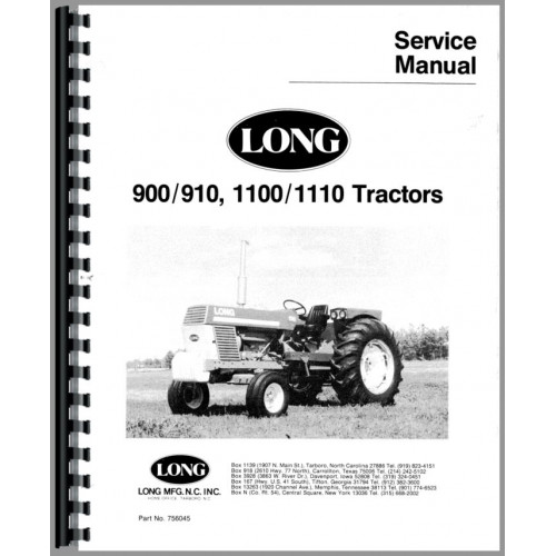 Long 1100 Tractor Service Manual