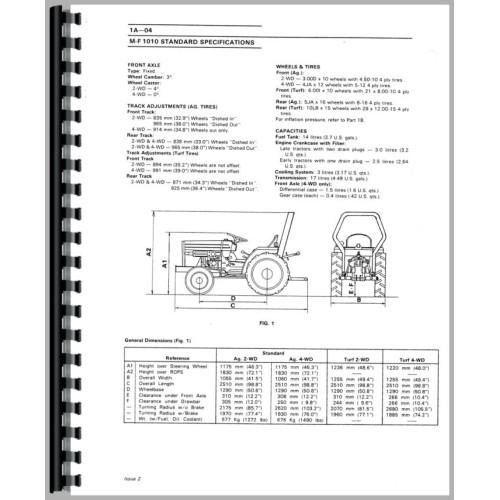 Massey Ferguson 1030-L Tractor Service Manual