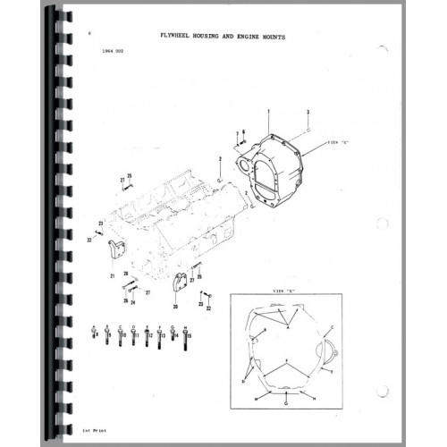 Massey Ferguson 1155 Tractor Parts Manual
