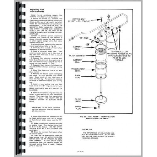Massey Ferguson 1105 Tractor Service Manual