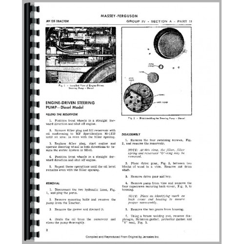 Massey Ferguson 150 Tractor Service Manual (1964-1975)
