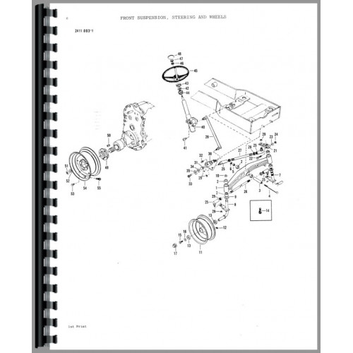 Massey Ferguson 1650 Lawn & Garden Tractor Parts Manual