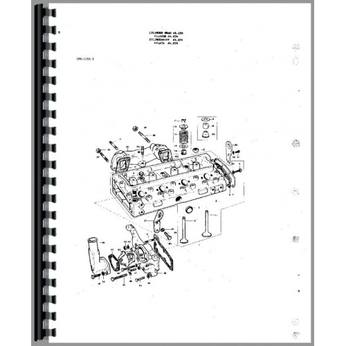 massey ferguson 175 parts diagram crane tractor manual