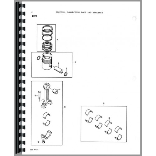 Massey Ferguson 180 Tractor Parts Manual