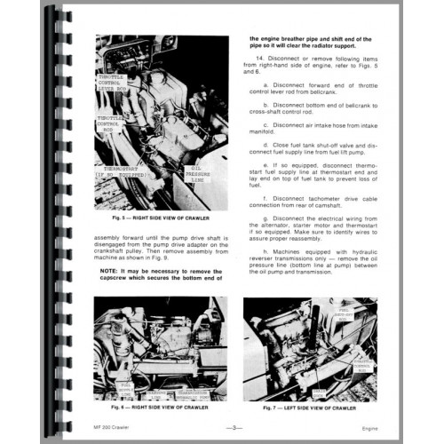 Massey Ferguson 200 Crawler Service Manual