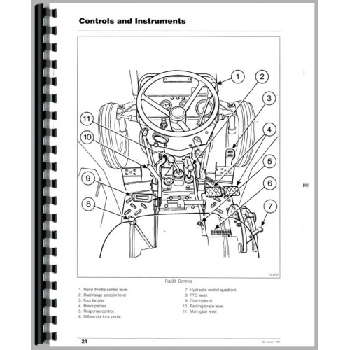 Massey Ferguson 231 Tractor Operators Manual (1989-1999)