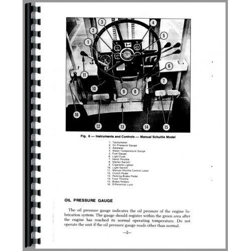 Massey Ferguson 2500 Forklift Operators Manual
