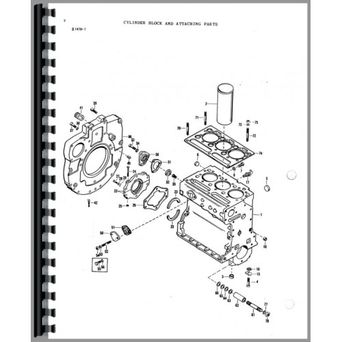Massey Ferguson 2500 Forklift Parts Manual