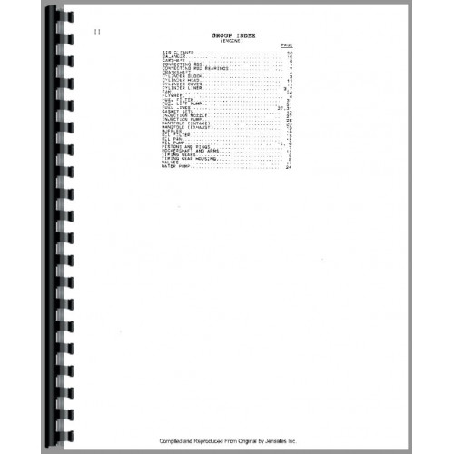 Massey Ferguson 282 Tractor Parts Manual