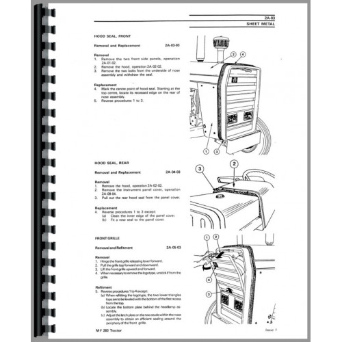 Massey Ferguson 283 Tractor Service Manual (Brazil Produced)