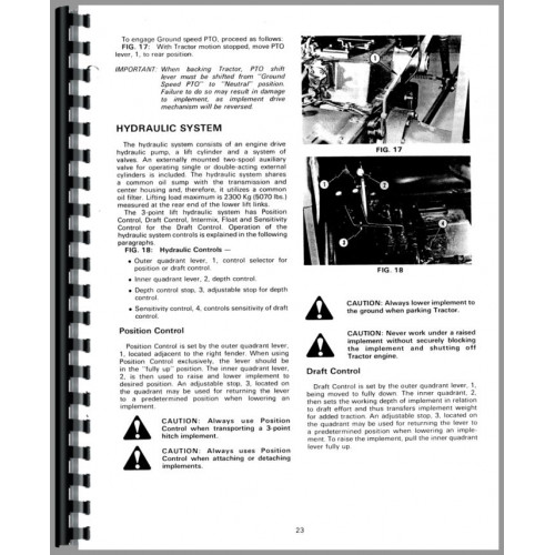 Massey Ferguson 254 Tractor Operators Manual