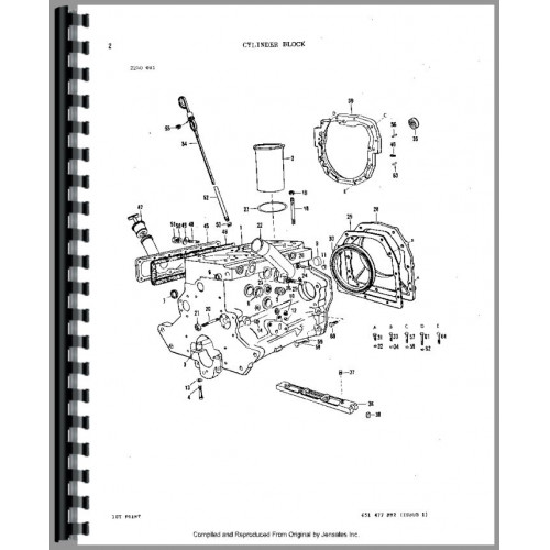 Massey Ferguson 298 Tractor Parts Manual