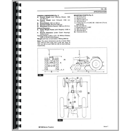 Massey Ferguson 298 Tractor Service Manual (Up to 1986)