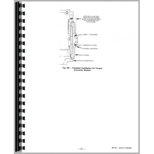 Massey Ferguson 30 Industrial Tractor Service Manual