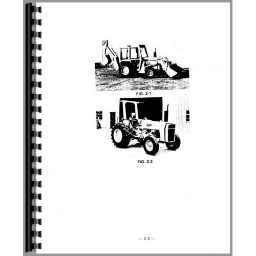 Massey Ferguson 30B Industrial Tractor Operators Manual