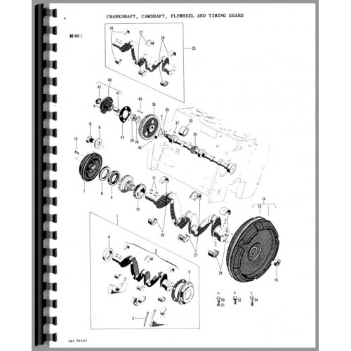 Massey Ferguson 3165 Industrial Tractor Parts Manual